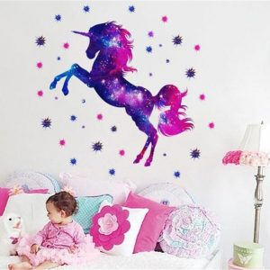 stickers murals unicorn decoration office and salon