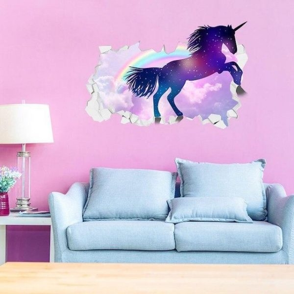 stickers murals unicorn galaxy bedroom girl at sell