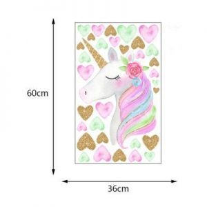stickers murals unicorn heart unicorn stuffed animals