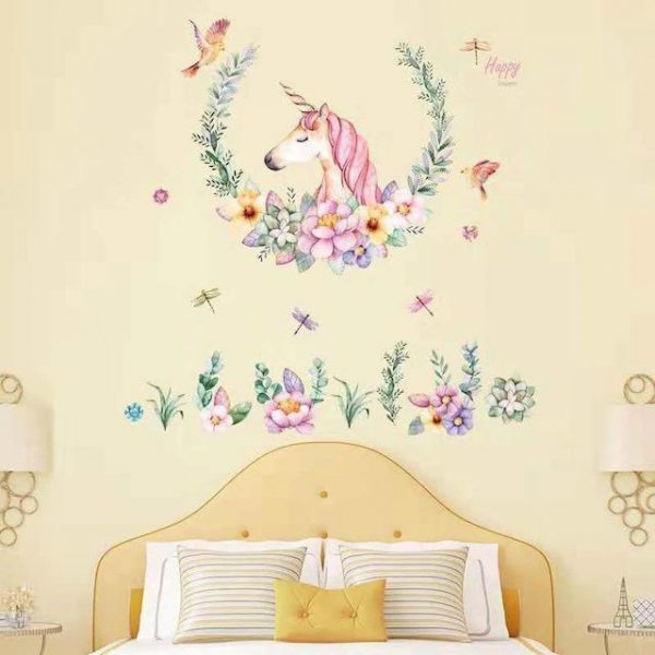 stickers murals unicorn nature bedroom at sell