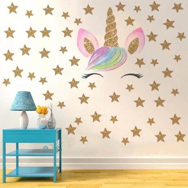 stickers murals unicorn stars