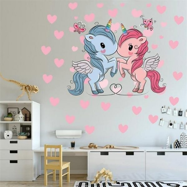 stickers murals unicorns in love objects unicorn at price minis