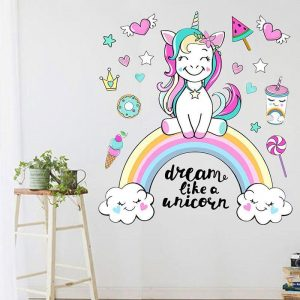 stickers unicorn decoration bedroom child l 54x60xm buy