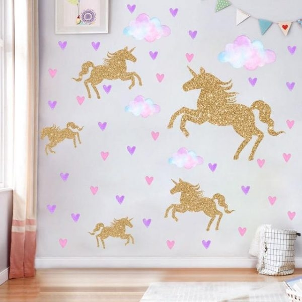 stickers unicorn decoration heart at sell