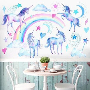 stickers wall unicorn bow in sky price