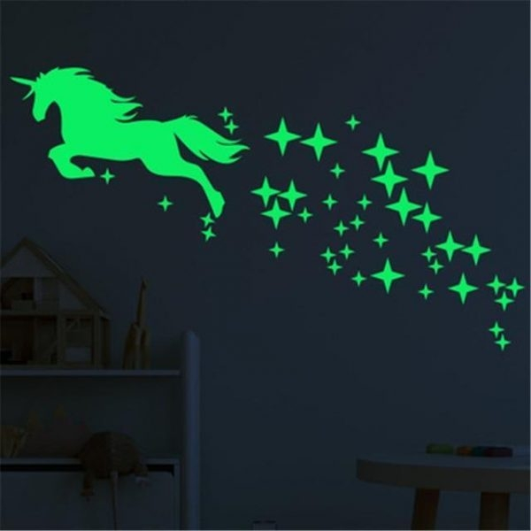 stickers wall unicorn fluorescent