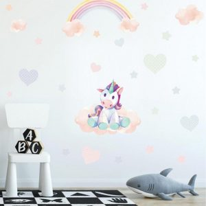 stickers wall unicorn kawaii price