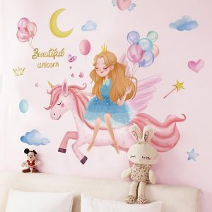stickers wall unicorn princess price