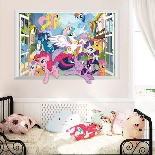 stickers wall unicorn small pony at sell