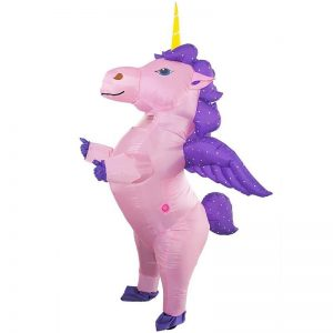 suit inflatable unicorn man