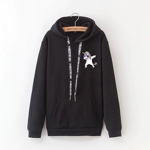sweater at hood unicorn women dab black xxxl tower of chest 112cm at sell