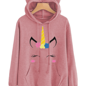 sweater at hood unicorn women kawaii grey xl 40