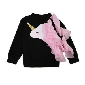 sweater unicorn baby kawaii black 5 6 years old not dear