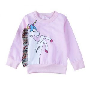 sweater unicorn baby kawaii pink 6 7 years old