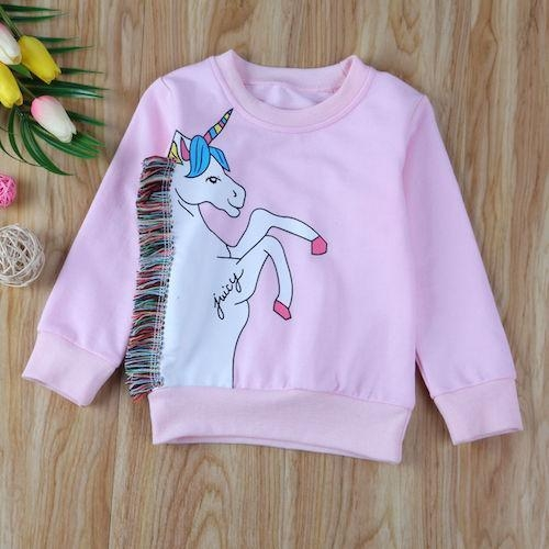 sweater unicorn baby kawaii pink 6 7 years old at sell