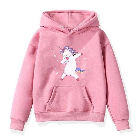 sweater unicorn child dab pink 15 years old 150 160 cm at sell