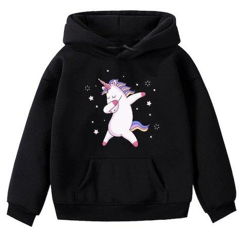 sweater unicorn child dab pink 15 years old 150 160 cm