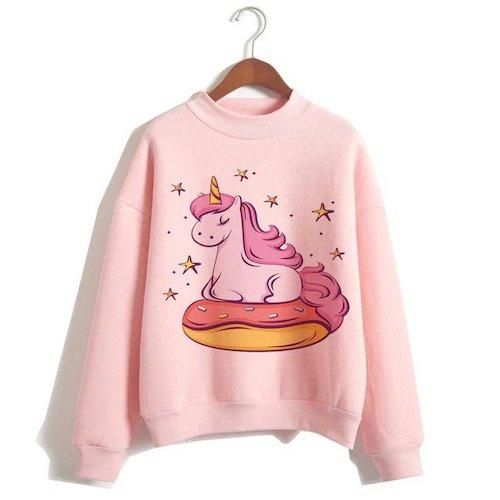 sweater unicorn women pink donut xxl tower of chest 114cm not dear