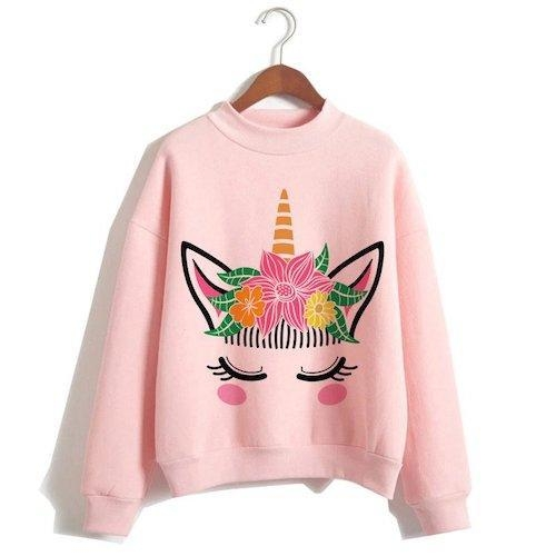 sweater unicorn women pink flower xxl tower of chest 114cm at sell