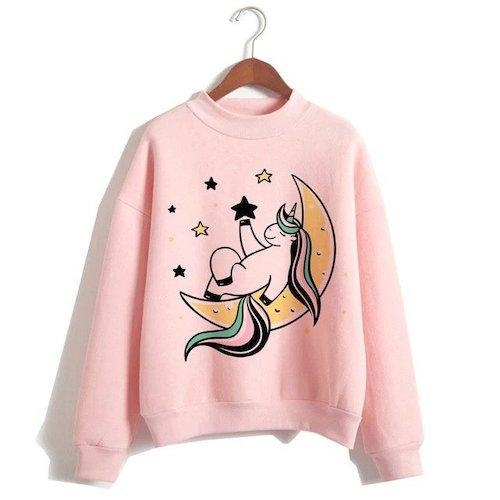 sweater unicorn women pink moon xxl tower of chest 114cm at sell