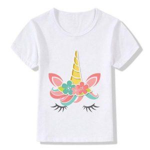 t shirt unicorn child flower princess 4xl 150 155cm clothing unicorn