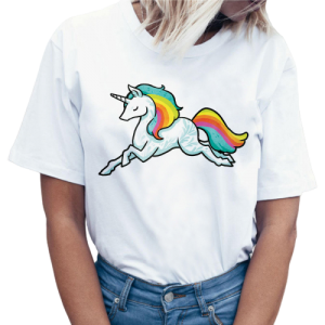 t shirt women unicorn asleep xxl