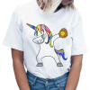 t shirt women unicorn dab baseball xxl