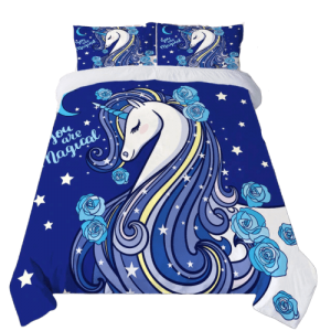 together of bedding unicorn blue 260x220cm price