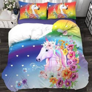 together of bedding unicorn bow in sky 220x240cm not dear