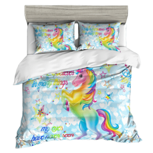 together of bedding unicorn kawaii 220x240cm room
