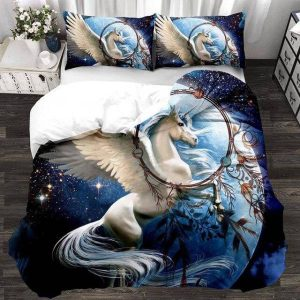 together of bedding unicorn realistic 220x240cm