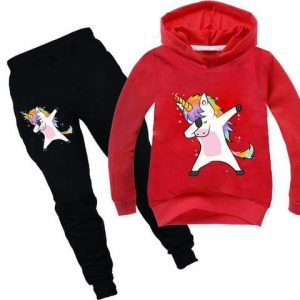 together of tracksuit unicorn red dab 140 145 cm