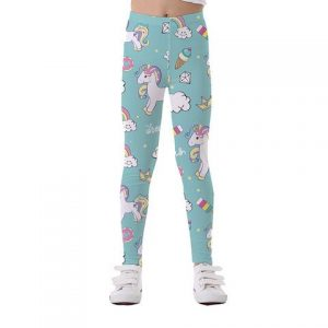 trousers leggings unicorn child green 11 12 years not dear