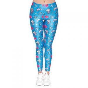 trousers leggings unicorn women blue xl 46 ​​48 clothing unicorn