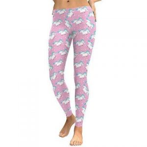 trousers leggings unicorn women pink kawaii xl 46 ​​48 buy