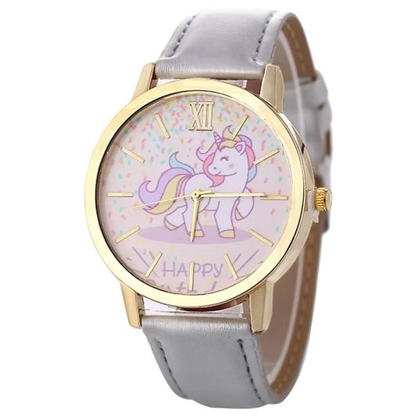 watch unicorn in leather blue not dear