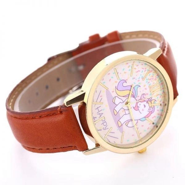 watch unicorn in leather blue watch unicorn