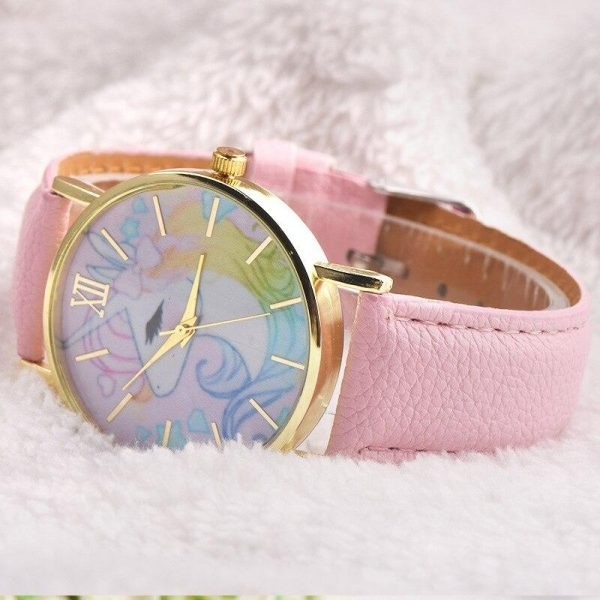 watch unicorn kawaii elegant pink watch unicorn