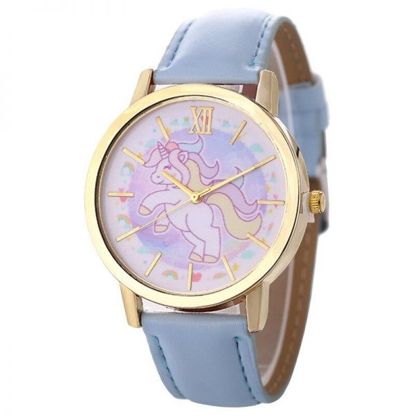 watch unicorn leather for girl blue