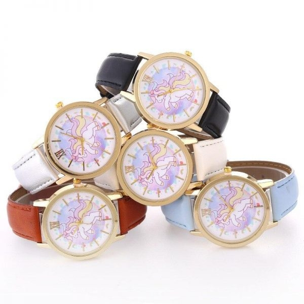watch unicorn leather for girl blue buy