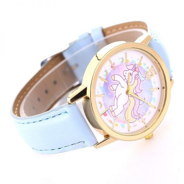 watch unicorn leather for girl blue not dear