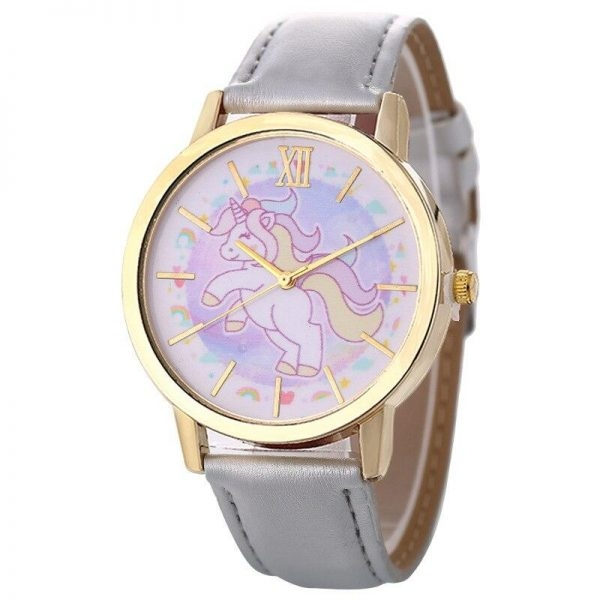 watch unicorn leather for girl blue watch unicorn