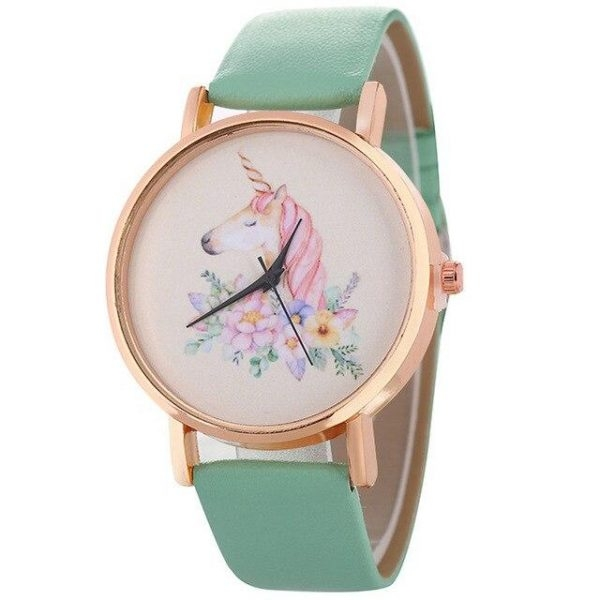 watch unicorn small girl beige watch unicorn