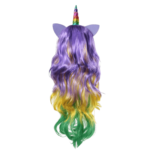 wig unicorn bow in sky disguise unicorn